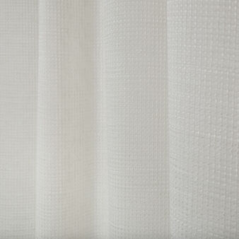 Linen blend curtain with hidden loops