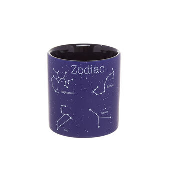 Ceramic toothbrush holder with constellation motif