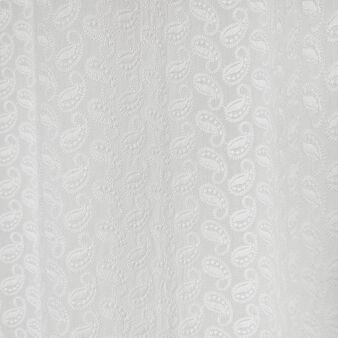 100% cotton curtain with paisley embroidery