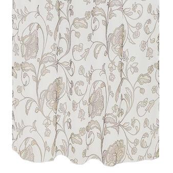Floral print curtain