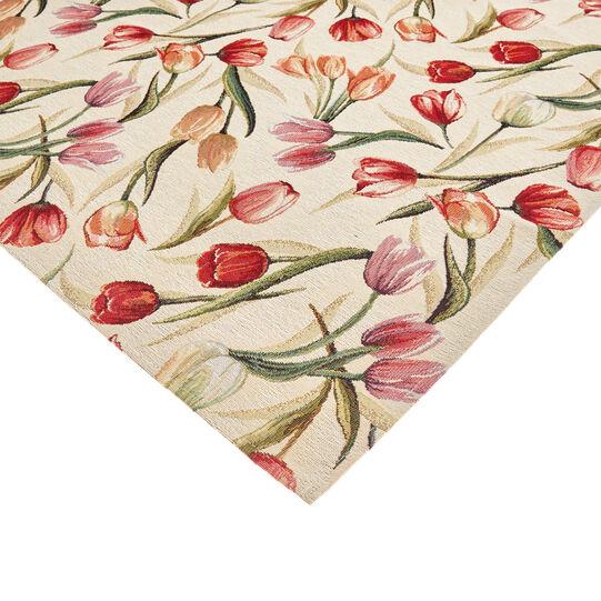 Gobelin jacquard centrepiece with tulip motif