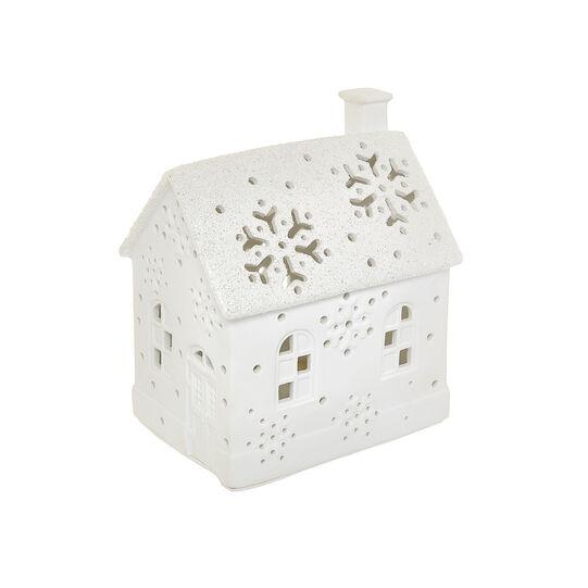 LED house in openwork porcelain
