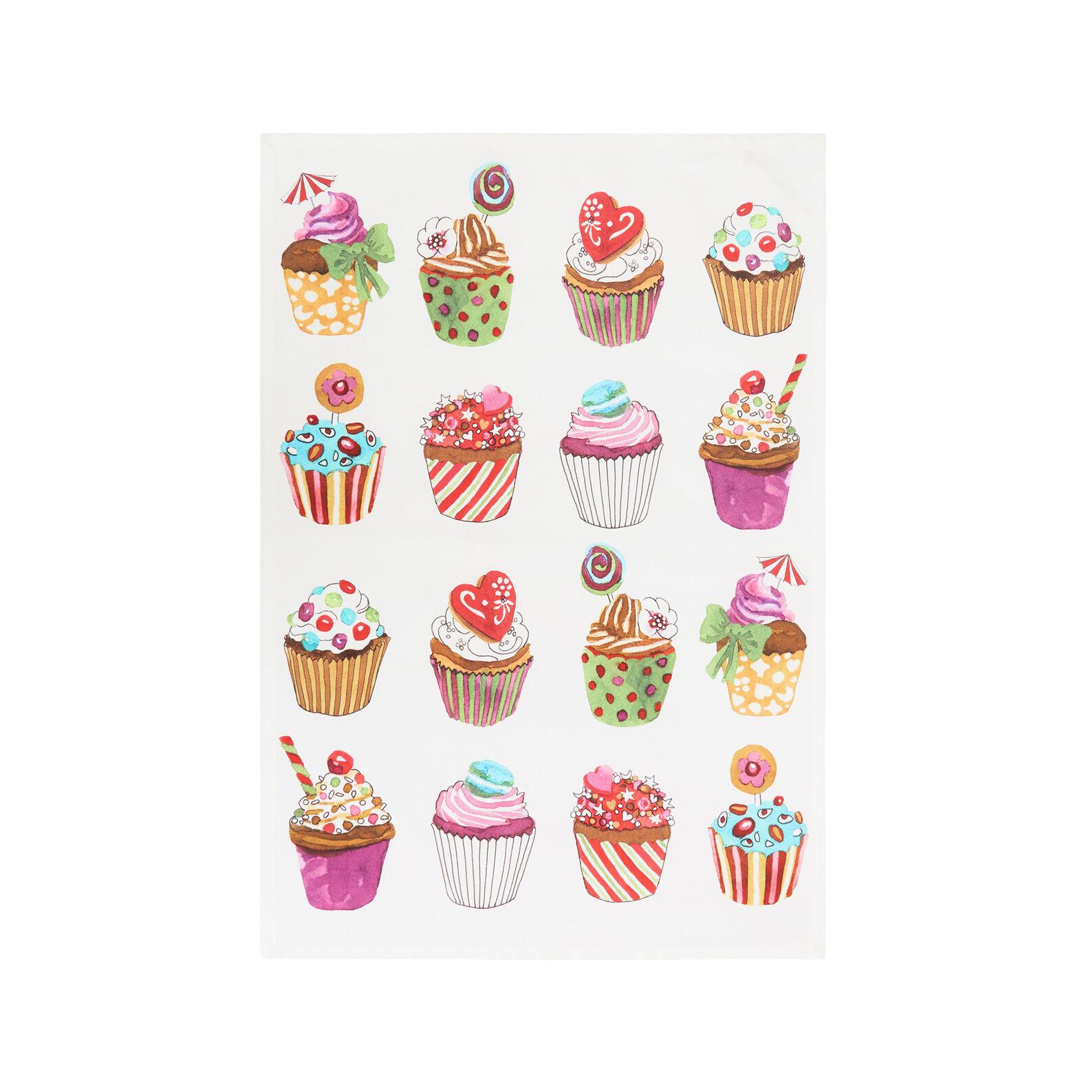 Set 2 strofinacci puro cotone stampa cupcakes by Sandra Jacobs design