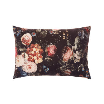 Cushion with flower print 35x55cm