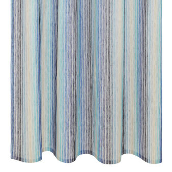 Linen blend curtain with faded stripes