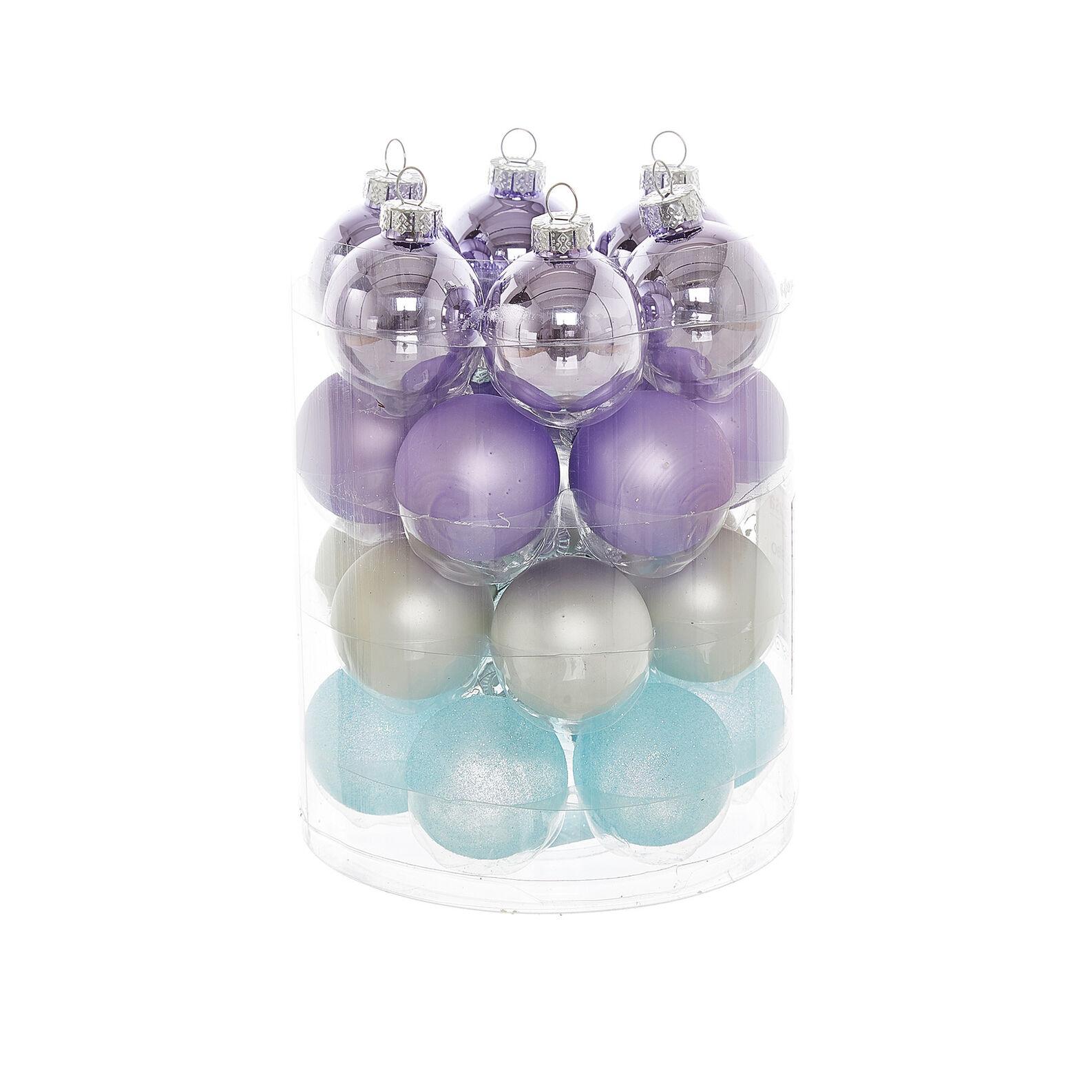 Set of 24 glass baubles D4cm