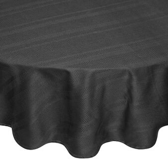 Oval tablecloth in 100% Egyptian cotton jacquard