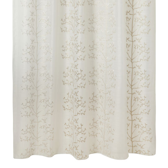 Relief embossed curtain