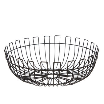 Enamelled metal wire fruit basket
