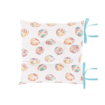 Cotton seat pad with Easter print