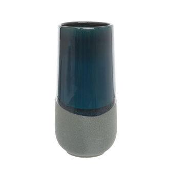 Enamelled ceramic vase