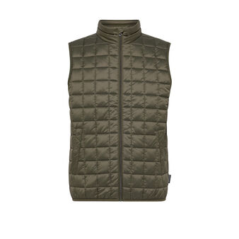 Padded high collar vest
