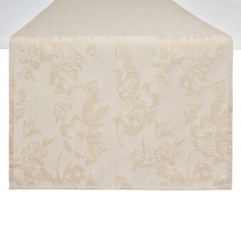 Cotton, jacquard and lurex table runner