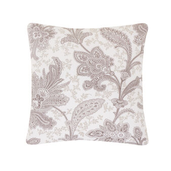 Cushion in 100% cotton with paisley print