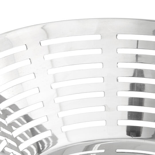 Round stainless steel basket