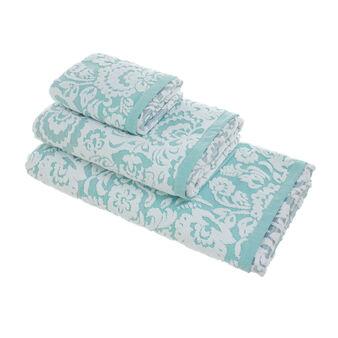 Asciugamano puro cotone degradé rilievi in spugna