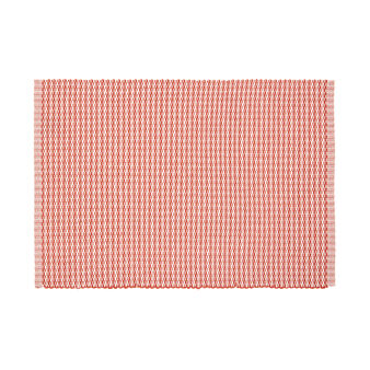 Cotton table mat with geometric design