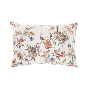 Cotton cushion with floral print