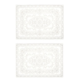 2-pack lace-effect PVC table mats