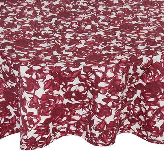 Tovaglia rotonda puro cotone stampa rose