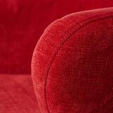 Red Chilli armchair in velvet