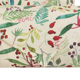 Cotton percale duvet cover with Christmas motif
