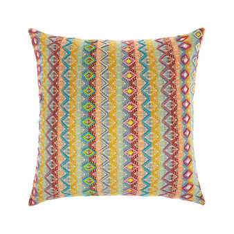 Cushion with embroidered beads