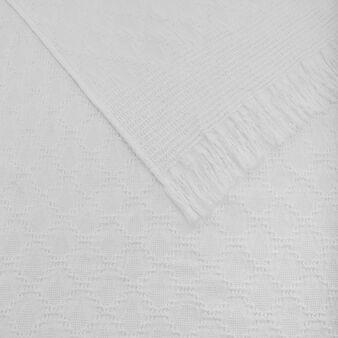 Plaid misto lino e cotone a rombi