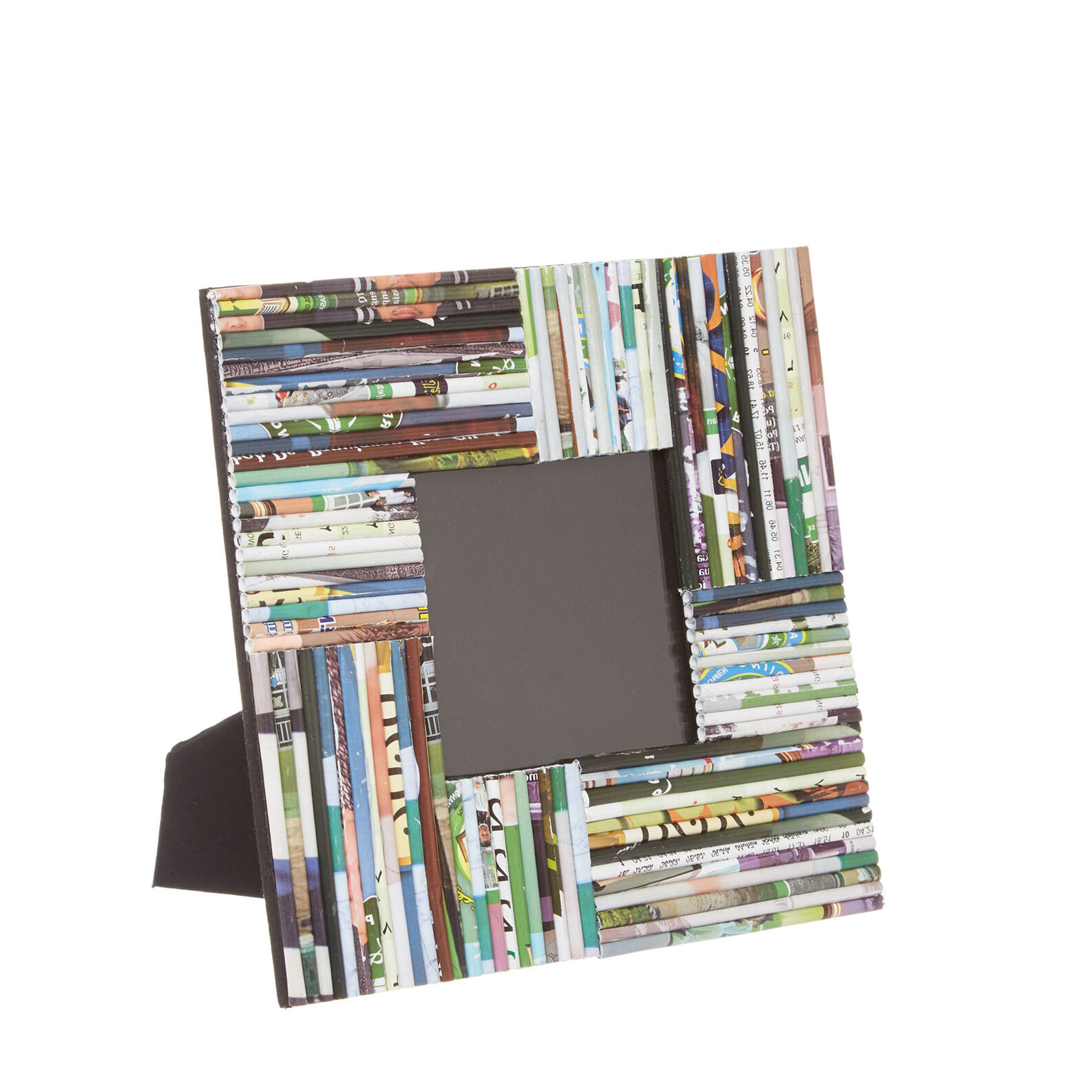 Photo frame in woven recycled paper