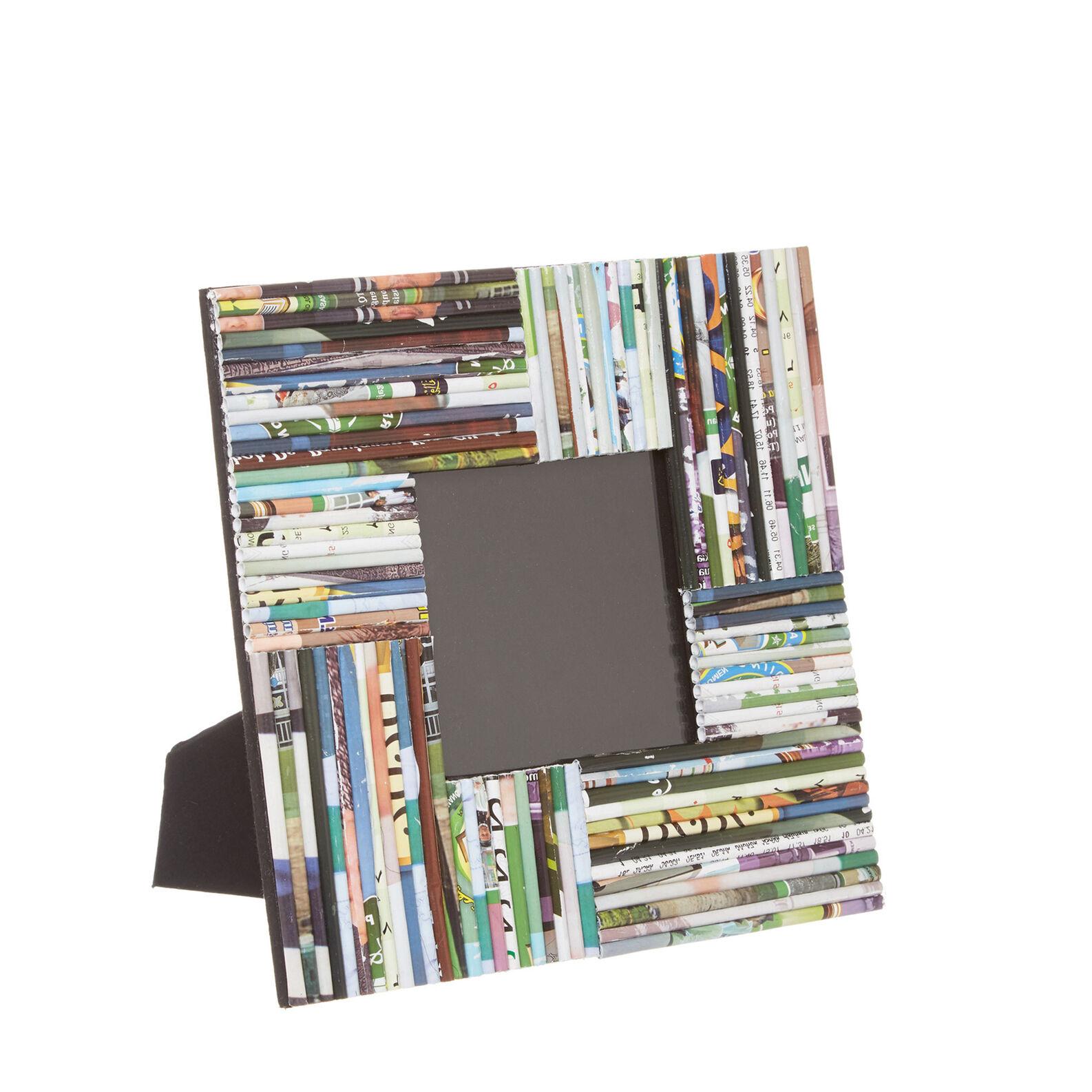 Portafoto in carta riciclata intrecciata