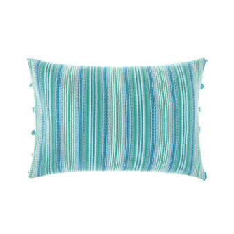 Jacquard cushion with stripes