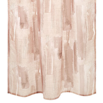 Curtain with brush-stroke printed  motif and concealed loops