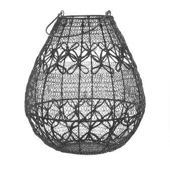 Lanterna in filo metallico fatta a mano