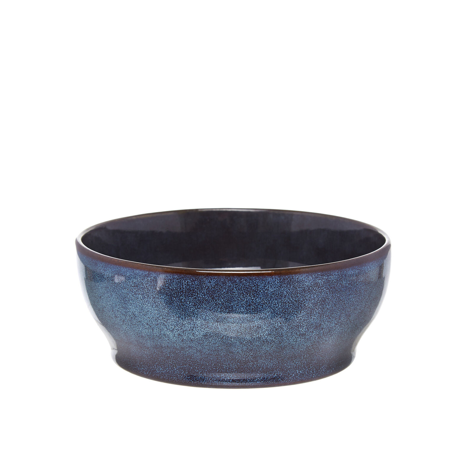 Space small bowl in stoneware with reactive glazes