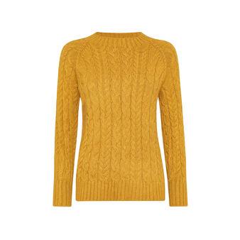 Braided crewneck sweater