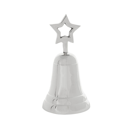 Nickel-plated brass bell with star