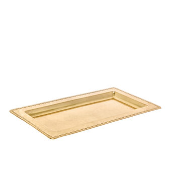 PVC tray with decorated edging