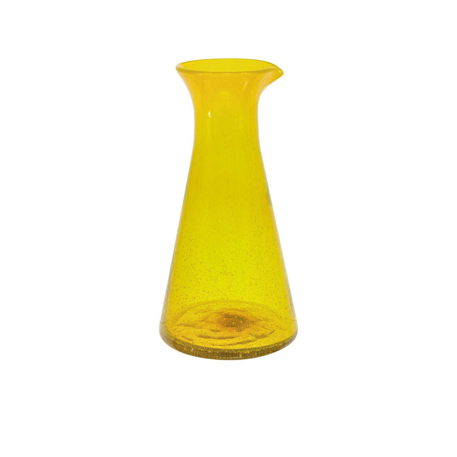 Coloured glass carafe with bubble effect
