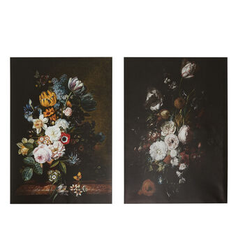 Canvas with floral photo print