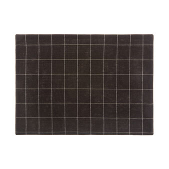 100% cotton check table mat
