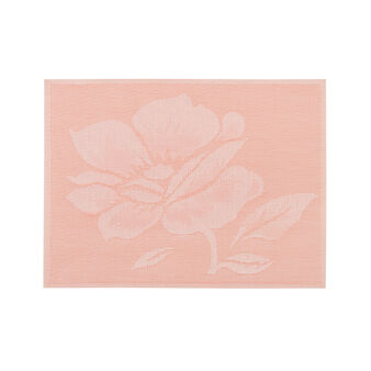 PVC table mat with rose motif