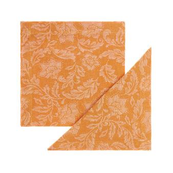 Set 2 tovaglioli lino e cotone motivo ornamentale