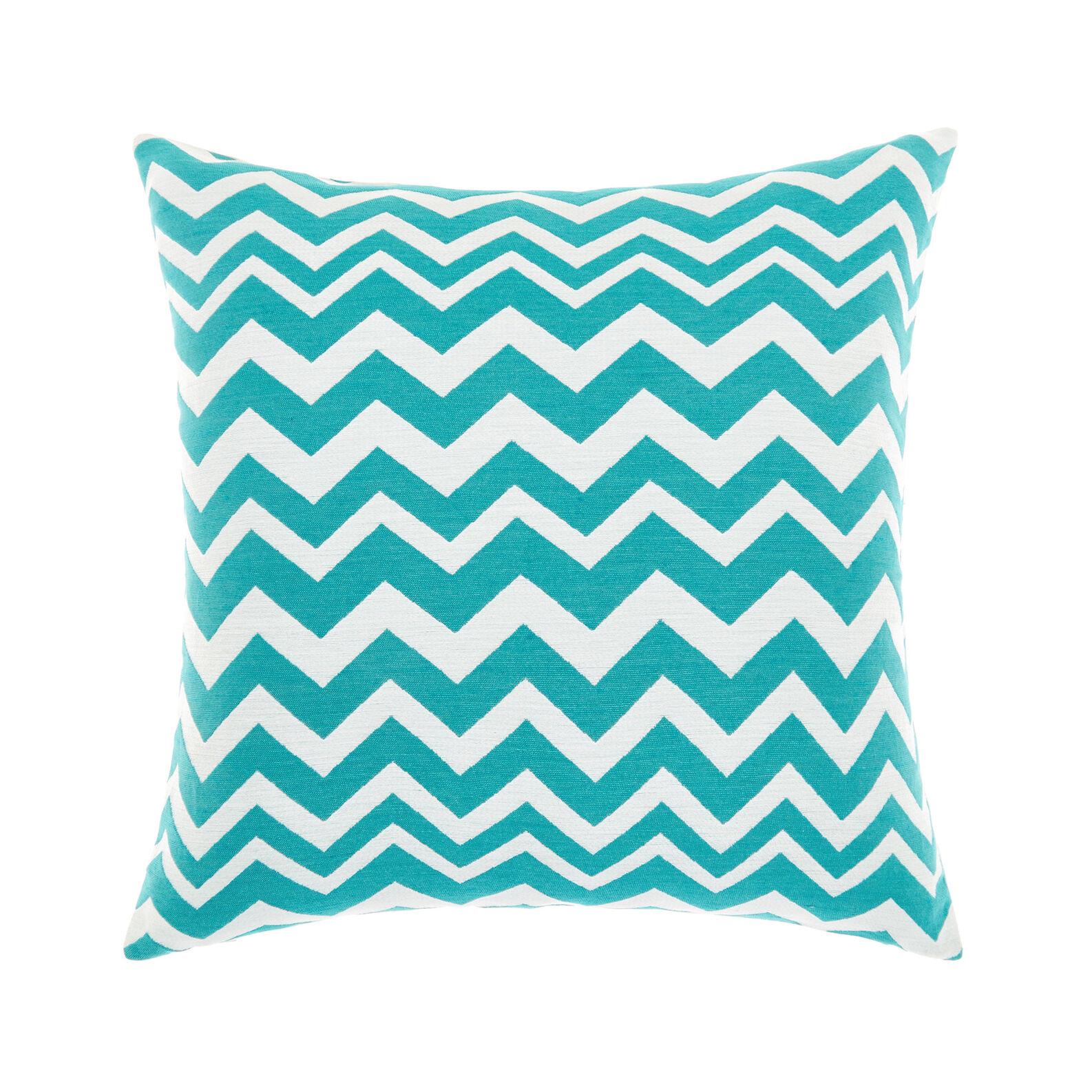 Zigzag striped jacquard cushion