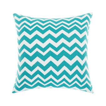 Zigzag striped jacquard cushion
