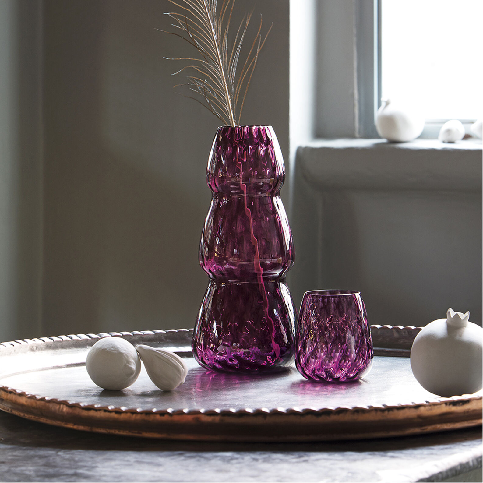 Glass in original Murano Glass Ola by Lanzavecchia + Wai