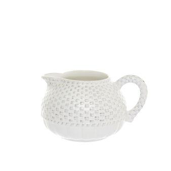 Isabel antiqued ceramic milk jug