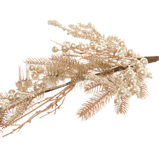 Decorative branch with gold berries