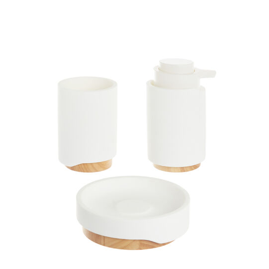 Design soap dish with bamboo detail