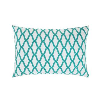 Cushion with geometric motif 35x55cm