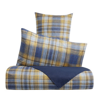 Duvet cover set in 100% cotton with tartan print